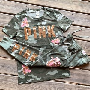 NWT Victoria's Secret PINK Set - Camo Bling Outfit